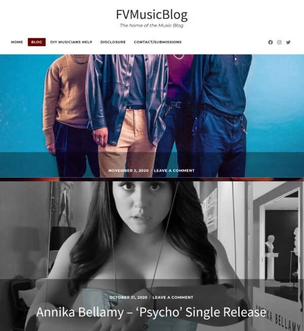 UK magazine FVMusicBlog writes about 'Psycho'!