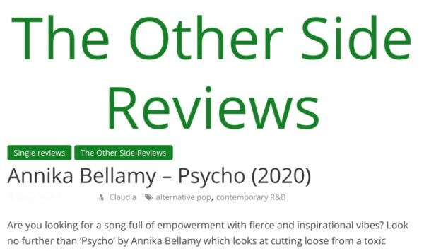 The Other Side Music Review Magazine – 'PSYCHO'